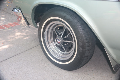 Long lasting tire dressing after 7 months - front