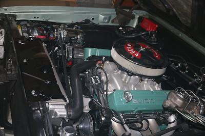 Biquette's engine - port after application of Flitz polish