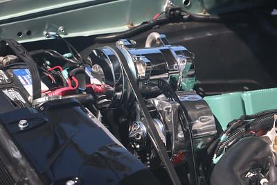 Detailing engine bay with Flitz metal polish