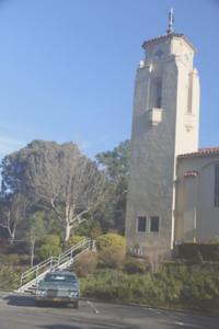 Biquette under Santa Maria bell tower (aged slide)