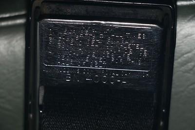 Biquette's original 1965 seat belt buckle - instructions
