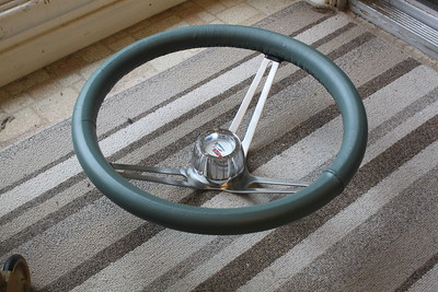 Steering wheel wrap - side view