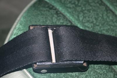 Biquette's original 1965 seat belt buckle - webbing