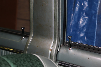 Passenger side door lock knobs