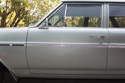 Paint damage to driver's side door.