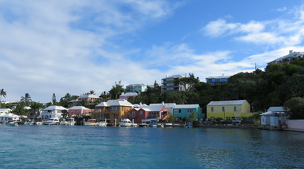 Some of the colorful houses around Flatts Inlet.
