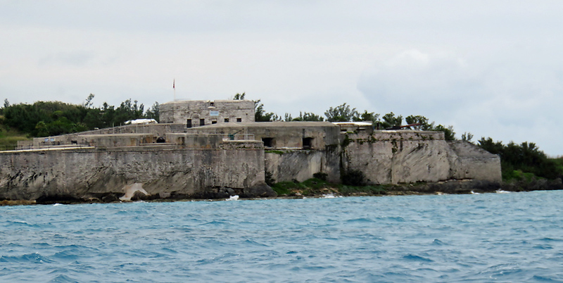 We sailed past Fort St. Catherine on St. George's Island.