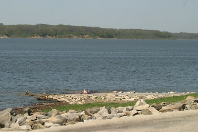 View from upper Cherry Glen boat ramp when Saylorville Lake was full   30 April