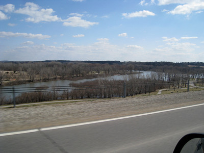 Red Rock flooding...below the dam, Marion Co.  03-28-10