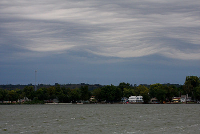 Cool cloud formations at Lake Manawa, Pottawattamie Co.  18 September 2010