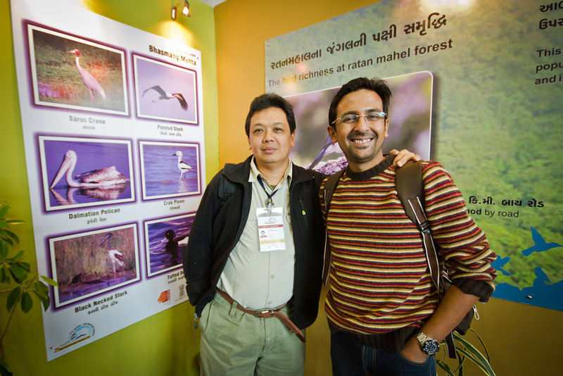 I once again met Mr. Bhasmang Mehta, a fellow delegate during the 1st GBWC in 2010. My friend proudly showed his bird photos which were featured in the gallery.
