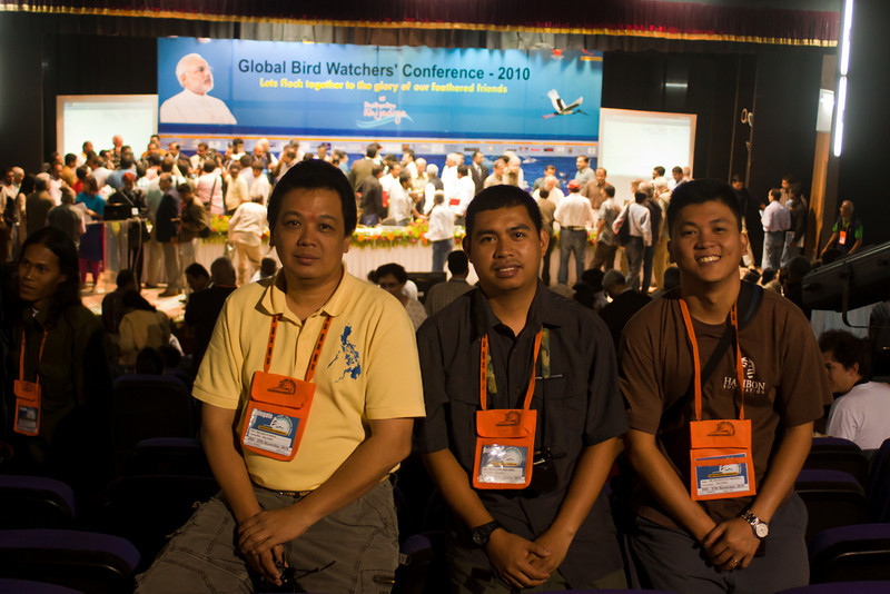 Philippine Delegates - Alain Pascua of KAAKBAY and WBCP, Rolly Urriza of the National Museum, and Don Geoff Eya Tabaranza of Haribon.