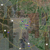 St Louis 50 mile circle <br /> Note: the circle has been lately deemed to include all of Carlyle lake