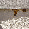 10 year old gravel-foam roof in El Dorado.  Some bird and bee damage at coated section of roof.  (photo taken 2008)