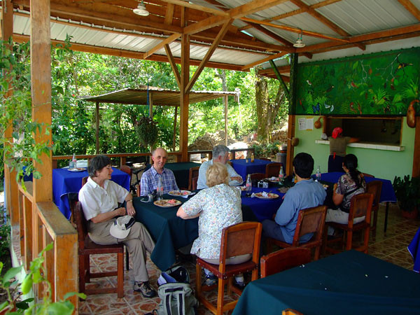 Tropical lunch at the Achiote Community owned restaurant