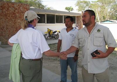 Handing us off - Guatamala border