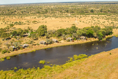 Overview of Kwando Lagoon Camp