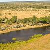 Overview of Kwando Lagoon Camp