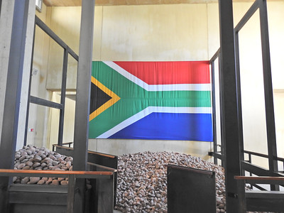 Flag of South Africa (at the Apartheid Museum)
