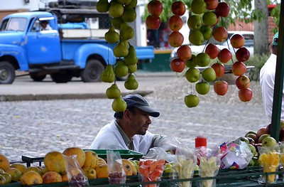 Vendor in the square
