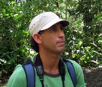 Juan David Ramirez our guide at Rio Claro. Expert at digiscoping