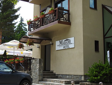 Our lodging in the mountains - Sinaia. Picturesque village.