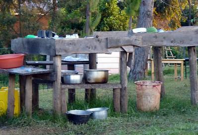 The kitchen at Trekker's Tavern