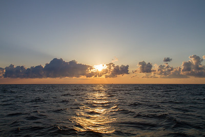 Sunrise at Gulf Stream pelagic off Hatteras, NC (06-03-2012) 003