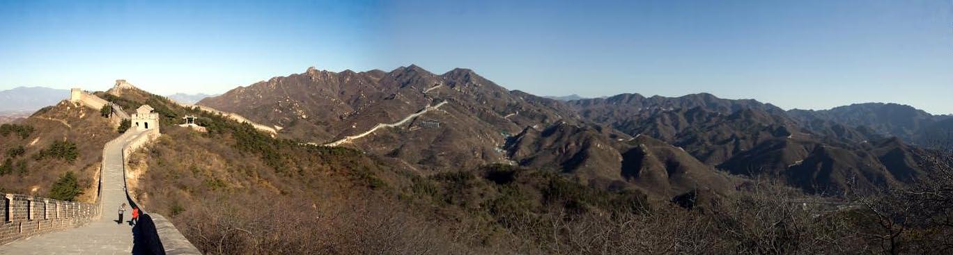 Great Wall of China panorama (1), Badaling, China (11-3-08)