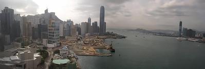 Hong Kong Skyline day from Grand Hyatt, Hong Kong, China (11-8-08)