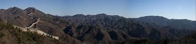 Great Wall of China panorama (2), Badaling, China (11-3-08)