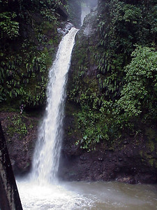 La Paz River Waterfall from La Paz Waterfall Gardens Costa Rica 2-10-03 (50898169)