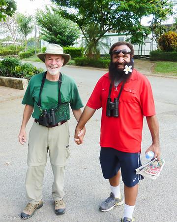 John Noel with Daniel Wakra at Pacific Adventist University, Papua New Guinea (09-27-2013)-2