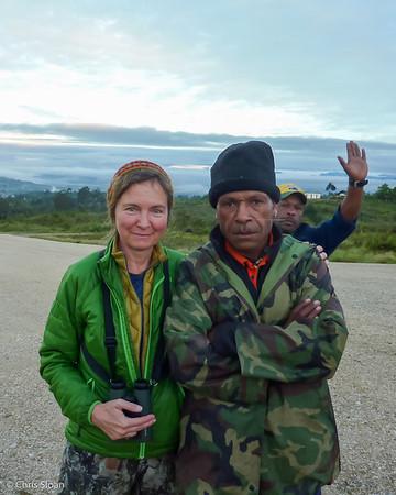 Melinda Welton with Thomas and Ben near Ambua Lodge, Papua New Guinea (10-06-2013) 022-3