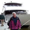 Jeane is standing in front of the CQ Princess, the luxury yacht that carried us down Kentucky Lake.  LBL Eagle Watch, January 2010