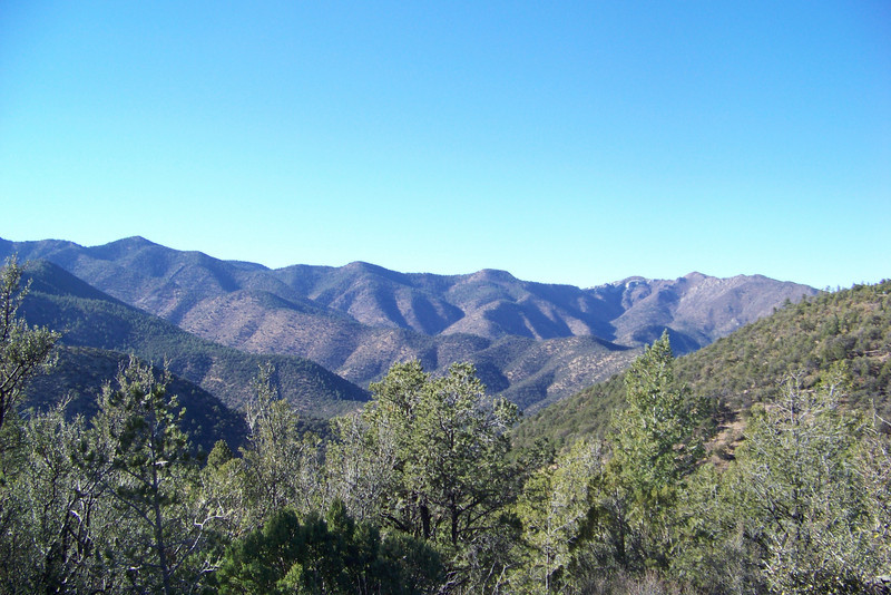 Magdalena Mountains from the Mesa Trail