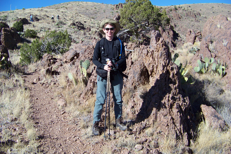 One of my hiking companions was nice enough to take my picture, since I'm soloing this trip.
