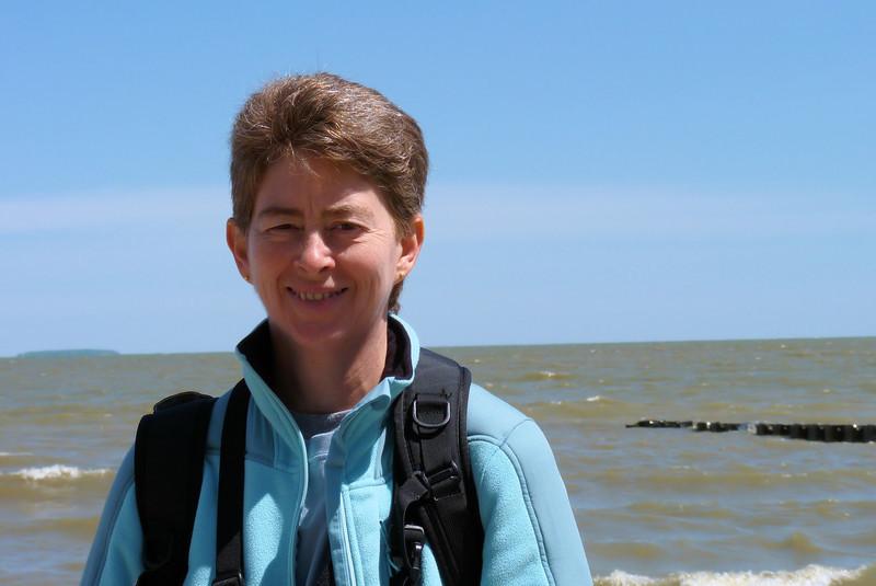 Patti at Lake Erie