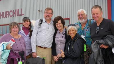 Vickie, Ann, Gordon, Barb, Claudia, Ken & Glen arrive Churchill