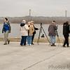 Birders surveying Ellis Bay at RMBS <br /> 2006-12-16