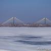 Clark Bridge from the across Ellis Bay<br /> Riverlands Migratory Bird Sanctuary