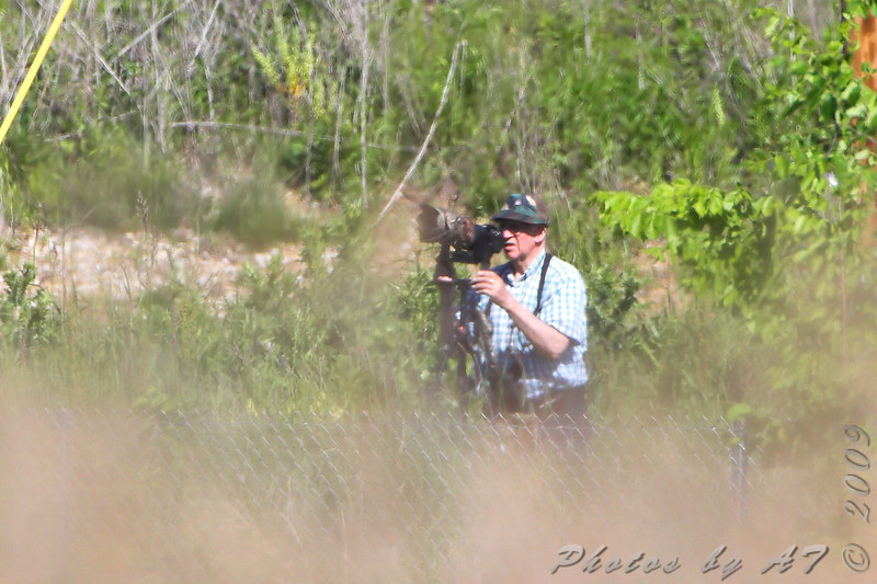 Paul Bauer across from the Scissor-tailed Flycatcher nest tree <br /> on Henke Rd St Chas Co. <br /> Phtoto taken from barricaded road stub