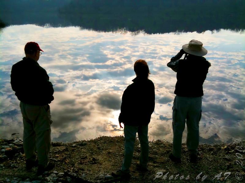 Birders at Lake 35 <br /> Busch Wildlife Conservation Area