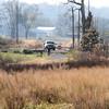 View from Riverlands Way of Heron Pond back parking lot <br /> Riverlands Migratory Bird Sanctuary