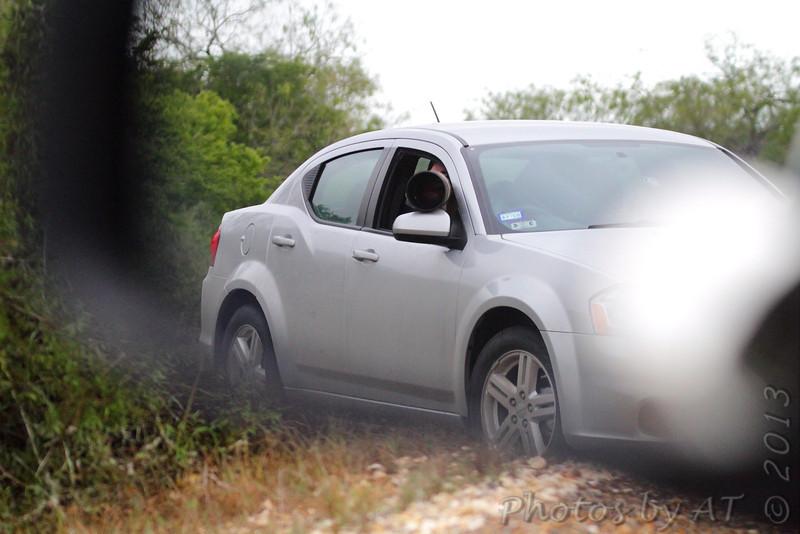 Car behind me shooting Roadrunner <br /> Luguna Atascoso NWR <br /> Texas