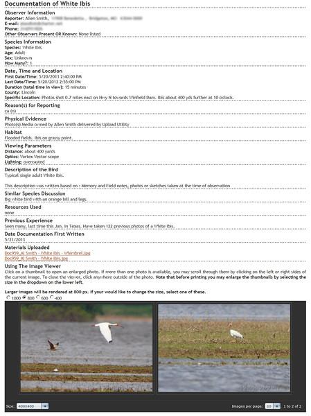 White Ibis <br /> Missouri Rare Bird Committee (MRBC)