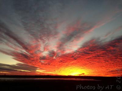 Sunset over Heron Pond Riverlands Migratory Bird Sanctuary
