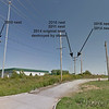Western Kingbird nests  <br /> North side of Electrical Sub-station <br /> 0.3 mile south of McDonnell on Fee Fee Road<br />  Hazelwood, MO