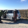 Viewing Snowy Owl <br /> A&C using my van as a windshield <br /> Cora Island Road <br /> St. Charles County