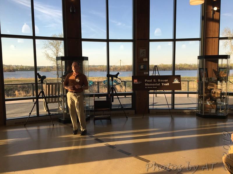 """Dedication of """"Paul E. Bauer Memorial Trail"""" <br /> Audubon Center  <br /> Riverlands Migratory Bird Sanctuary"""